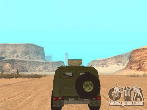 GAZ 2975 para GTA San Andreas vista hacia atrás