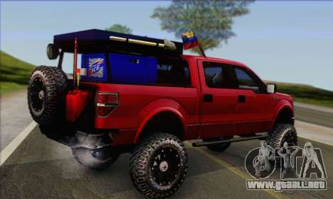 Ford F-150 2012 para GTA San Andreas left