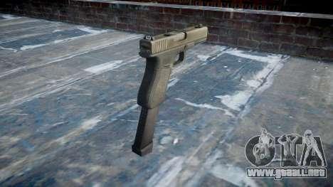Pistola Glock 18 para GTA 4 segundos de pantalla