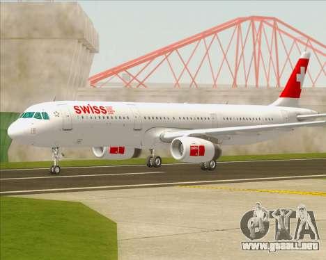 Airbus A321-200 Swiss International Air Lines para GTA San Andreas left