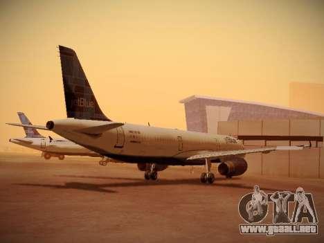 Airbus A321-232 jetBlue Do-be-do-be-blue para GTA San Andreas vista posterior izquierda