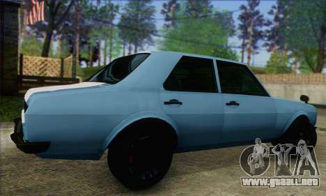 Vulcar Warrener V2 para GTA San Andreas left
