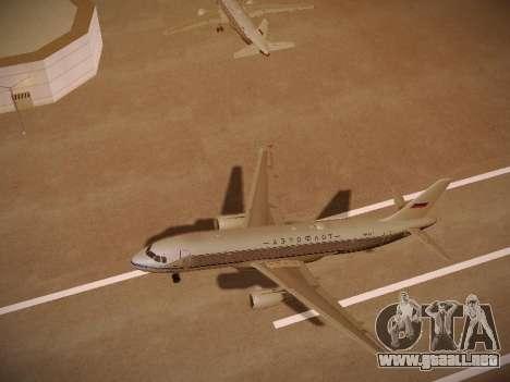 Airbus A320-214 Aeroflot Retrojet para la vista superior GTA San Andreas
