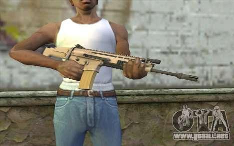 MK 16 SCAR para GTA San Andreas tercera pantalla