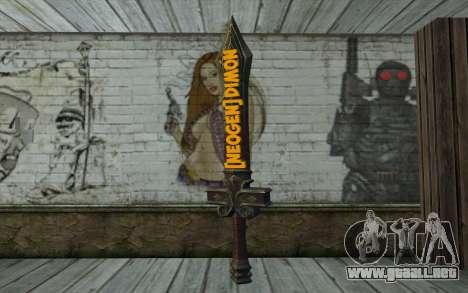 Sword from World of Warcraft para GTA San Andreas segunda pantalla