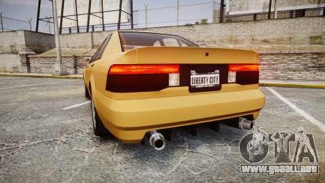 Maibatsu Vincent GT v2.0 para GTA 4 Vista posterior izquierda