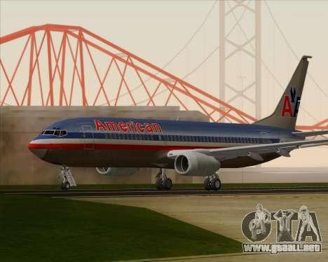 Boeing 737-800 American Airlines para la visión correcta GTA San Andreas