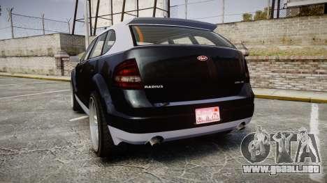 GTA V Vapid Radius para GTA 4 Vista posterior izquierda