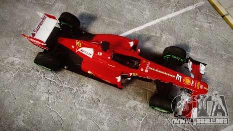 Ferrari F138 v2.0 [RIV] Alonso TIW para GTA 4 visión correcta