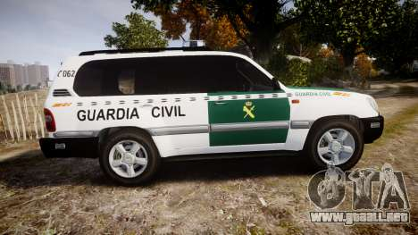 Toyota Land Cruiser Guardia Civil Cops [ELS] para GTA 4 left