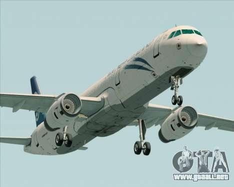 Airbus A321-200 Air New Zealand para visión interna GTA San Andreas