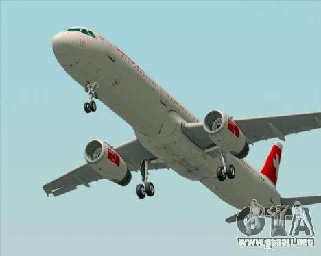 Airbus A321-200 Swiss International Air Lines para GTA San Andreas vista posterior izquierda