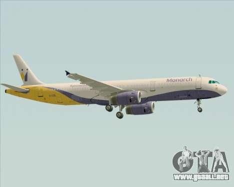 Airbus A321-200 Monarch Airlines para la visión correcta GTA San Andreas