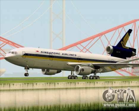 McDonnell Douglas DC-10-30 Singapore Airlines para GTA San Andreas vista hacia atrás