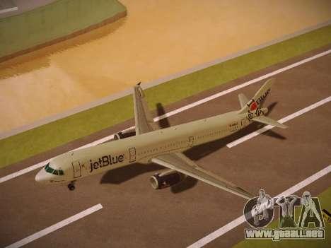 Airbus A321-232 jetBlue I love Blue York para GTA San Andreas interior