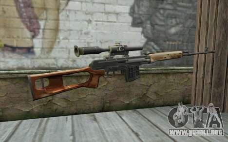 Fusil De Francotirador Dragunov para GTA San Andreas segunda pantalla
