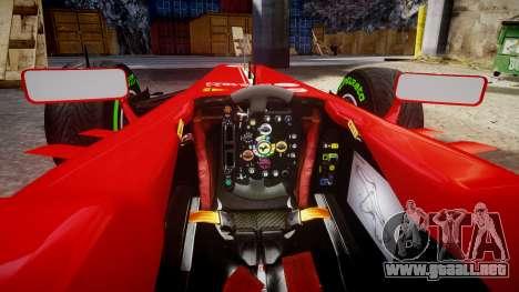 Ferrari F138 v2.0 [RIV] Alonso TIW para GTA 4 vista interior