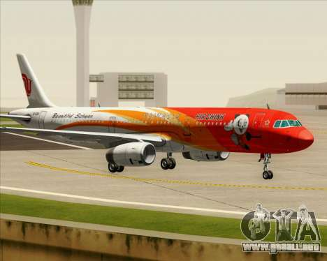 Airbus A321-200 Air China (Beautiful Sichuan) para visión interna GTA San Andreas