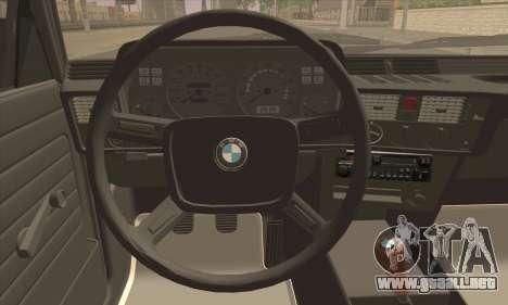 BMW 3 Series (E21) para GTA San Andreas vista posterior izquierda