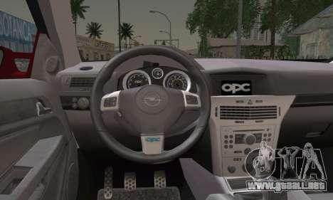 Opel Astra OPC para GTA San Andreas vista posterior izquierda