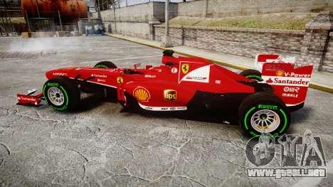 Ferrari F138 v2.0 [RIV] Alonso TIW para GTA 4 left