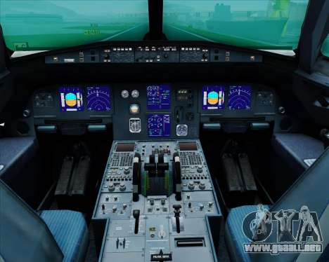 Airbus A321-200 United Airlines para GTA San Andreas interior