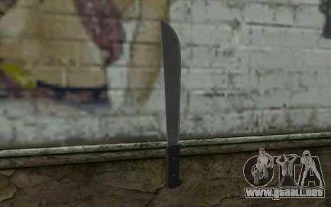 Machete (DayZ Standalone) v2 para GTA San Andreas segunda pantalla