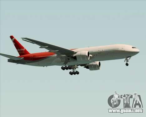 Boeing 777-21BER Nordwind Airlines para GTA San Andreas vista hacia atrás