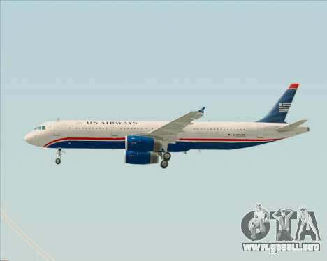 Airbus A321-200 US Airways para las ruedas de GTA San Andreas