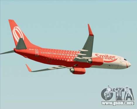 Boeing 737-800 de Gol Transportes Aéreos para vista lateral GTA San Andreas