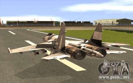 Sukhoi SU-35 BF3 para GTA San Andreas left