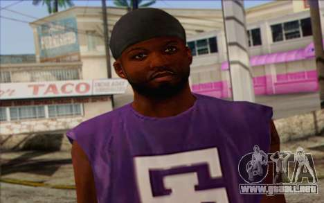 Ballas from GTA 5 Skin 1 para GTA San Andreas tercera pantalla