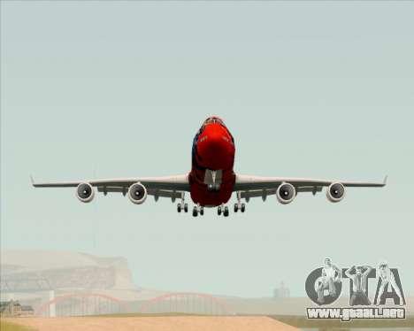 Boeing 747-400ER Qantas (Wunala Dreaming) para la visión correcta GTA San Andreas