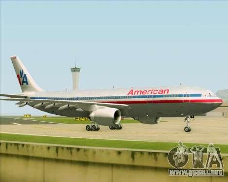 Airbus A300-600 American Airlines para visión interna GTA San Andreas