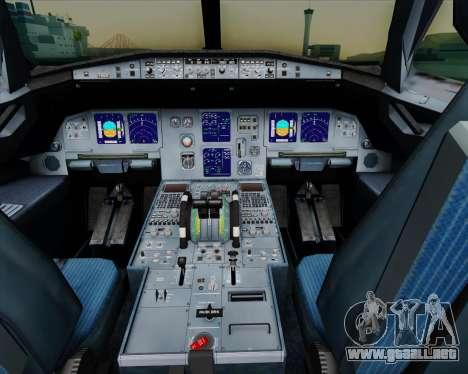 Airbus A321-200 Air New Zealand para GTA San Andreas interior