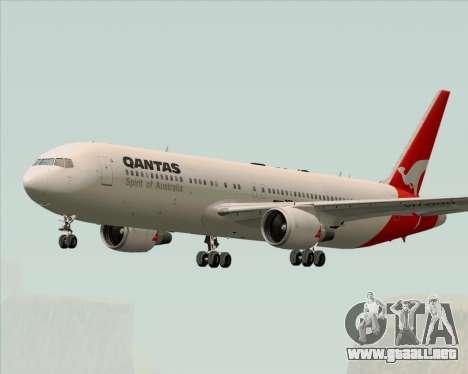 Boeing 767-300ER Qantas (Old Colors) para la visión correcta GTA San Andreas