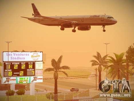 Airbus A321-232 jetBlue Do-be-do-be-blue para vista inferior GTA San Andreas