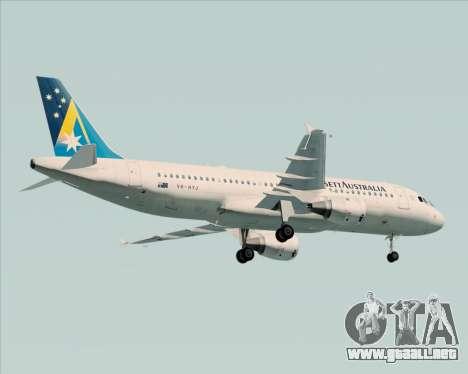 Airbus A320-200 Ansett Australia para GTA San Andreas vista hacia atrás