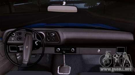Chevrolet Camaro Z28 1970 (ImVehFt) para la visión correcta GTA San Andreas