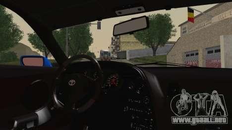 Toyota Supra Twin Turbo para GTA San Andreas vista posterior izquierda
