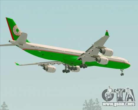 Airbus A340-600 EVA Air para las ruedas de GTA San Andreas