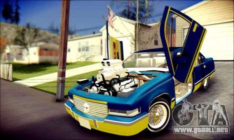 Cadillac Fleetwood 1993 Lowrider para la vista superior GTA San Andreas