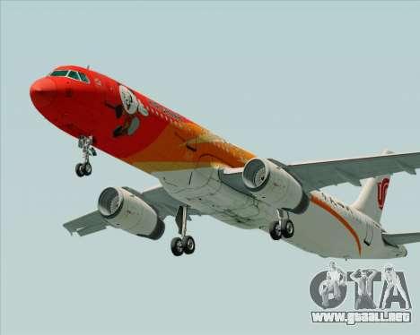 Airbus A321-200 Air China (Beautiful Sichuan) para GTA San Andreas left
