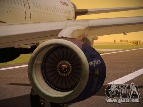 Airbus A321-232 jetBlue Batty Blue para las ruedas de GTA San Andreas