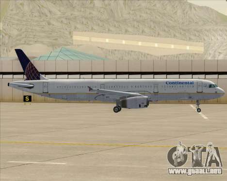 Airbus A321-200 Continental Airlines para el motor de GTA San Andreas