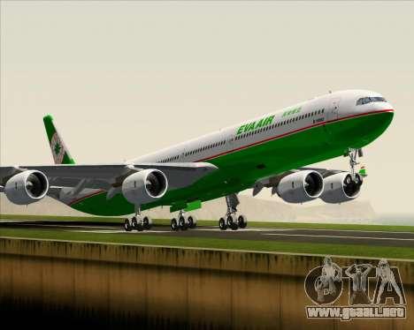 Airbus A340-600 EVA Air para visión interna GTA San Andreas