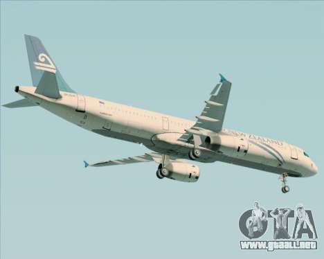 Airbus A321-200 Air New Zealand para vista inferior GTA San Andreas