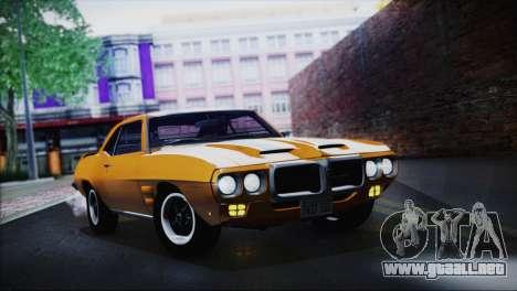Pontiac Firebird Trans Am Coupe (2337) 1969 para la visión correcta GTA San Andreas
