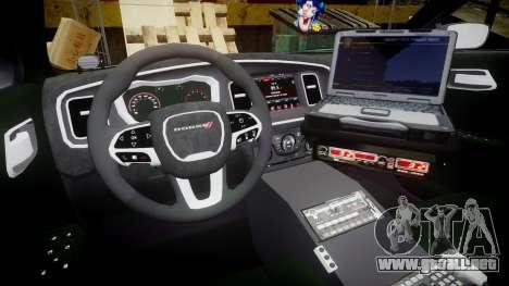 Dodge Charger 2015 City of Liberty [ELS] para GTA 4 vista hacia atrás