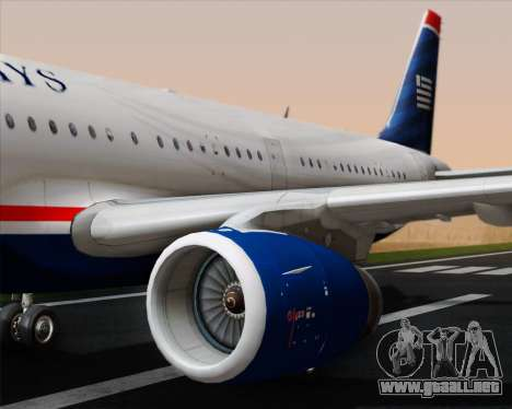 Airbus A321-200 US Airways para el motor de GTA San Andreas
